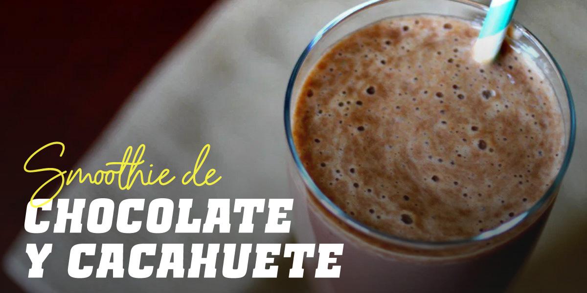 Smoothie de Chocolate con Harina de Cacahuete