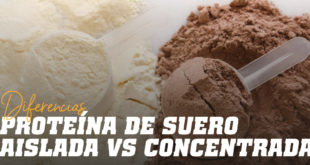 ¿Cuáles son las diferencias entre Whey Protein Isolate y Concentrate?