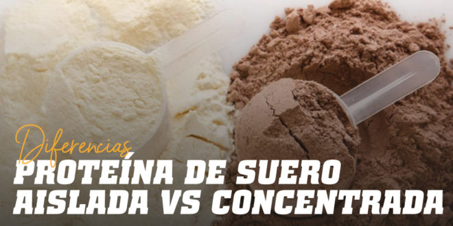 Diferencias entre Proteína de Suero Aislada y Concentrada
