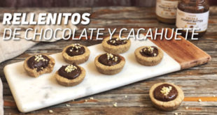 Rellenitos de Chocolate y Cacahuete