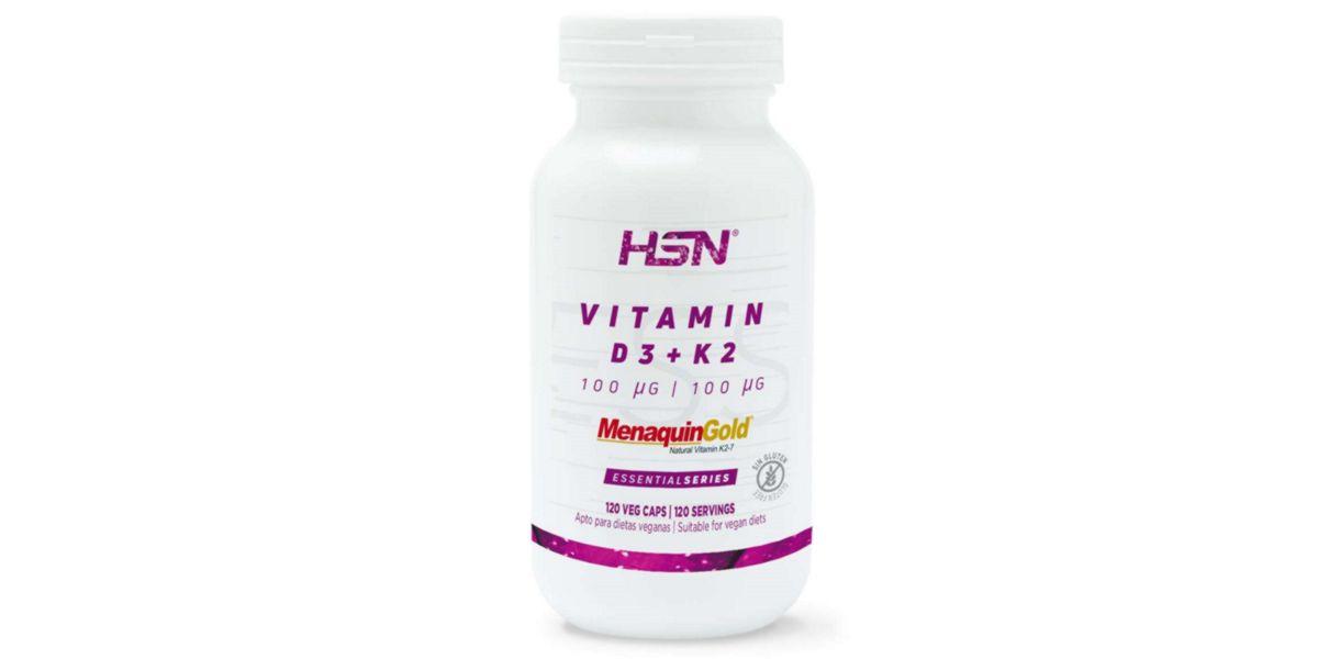 Vitamina D3+K2 vegana HSNessentials 100/100mcg