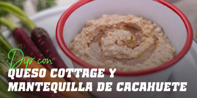 Dip con Queso Cottage y Crema de Cacahuete en Polvo