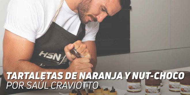 Tartaletas aromatizadas con naranja y rellenas de Nutchoco, por Saúl Craviotto