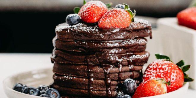 Tortitas de Avena con Crema de Chocolate Proteica