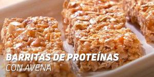 Barritas de Proteínas con Avena