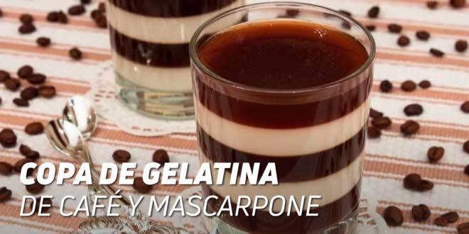 Copa de Gelatina de Café y Queso Mascarpone