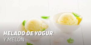 Helado de Yogur y Melón