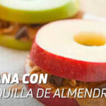 Manzana con Mantequilla de Almendra