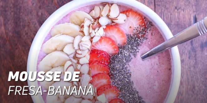 Mousse de Fresa Banana
