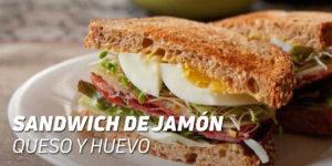 Sandwich de Jamón, Queso y Huevo