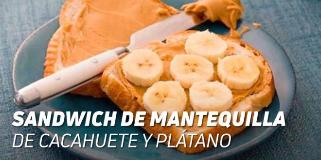 Sandwich de Mantequilla de Cacahuete y Plátano