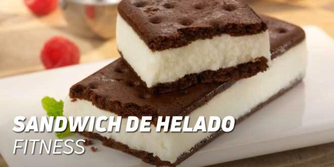 Sandwich de Helado Fitness con Harina de Avena y Aceite de Coco