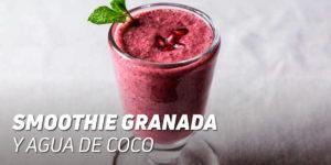Smoothie de Granada y Agua de Coco