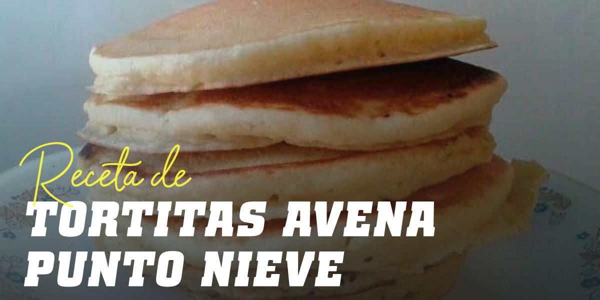 Tortitas de Avena con Claras al punto de nieve