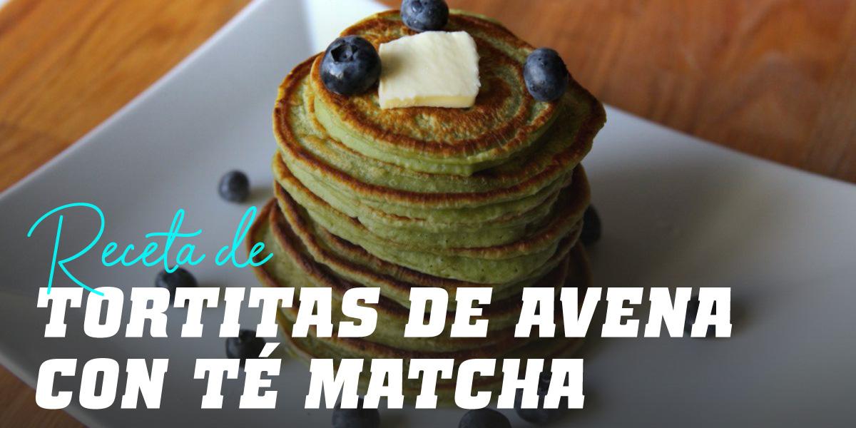 Tortitas de Avena con Té Matcha