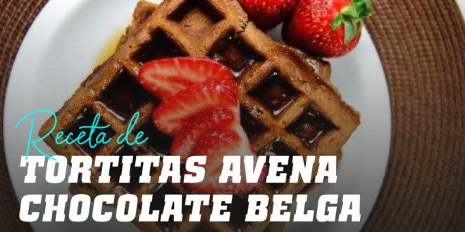 Tortitas de Avena para Gofres con Chocolate Belga