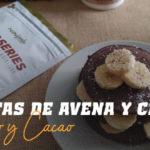Tortitas de Avena y Claras con Coco y Cacao