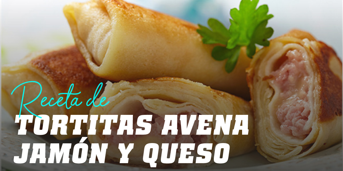 """Tortitas de Avena con Jamón y Queso (""""Wraps"""")"""