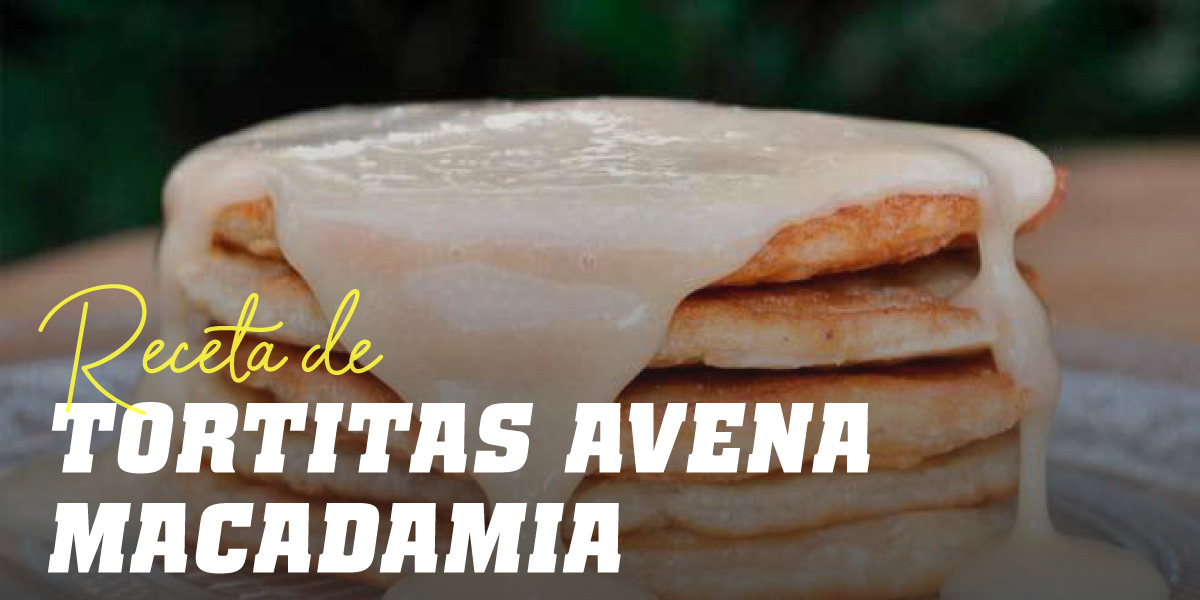 Tortitas de Avena Mantequilla de Nueces de Macadamia