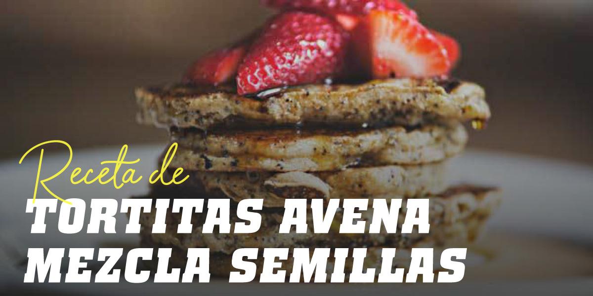 Tortitas de Avena y Claras con Mezcla de Semillas