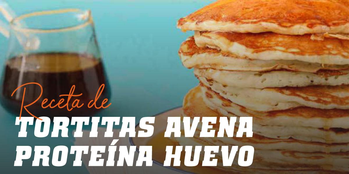 Tortitas de Avena utilizando albúmina de huevo