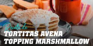 Tortitas de Avena y Claras con Topping de Marshmallow