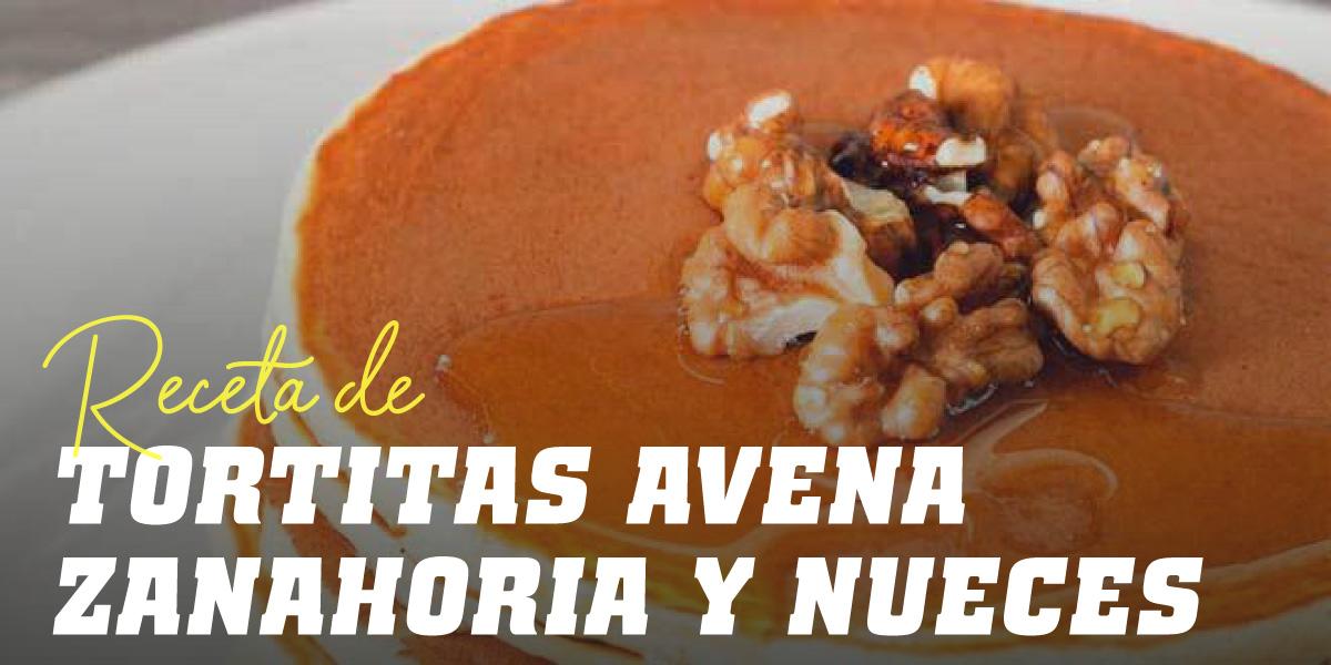 Tortita de Avena con Zanahoria y Nueces