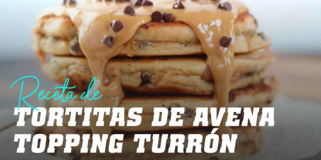 Tortitas de Avena y Claras con Topping de Turrón