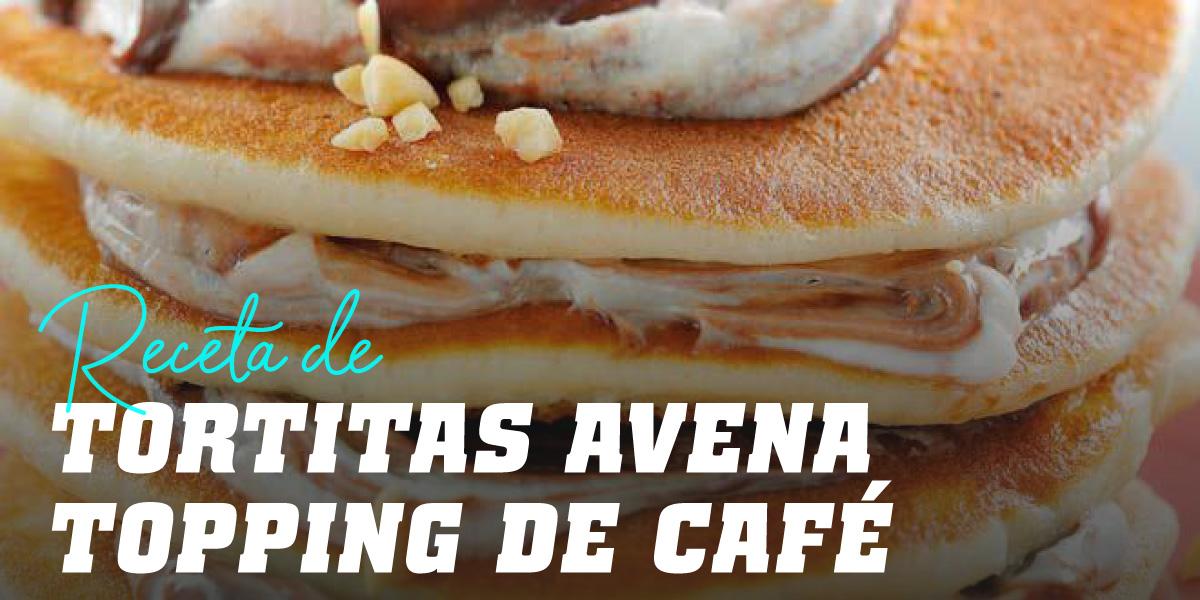 Tortitas de Avena y Claras con Topping de Café