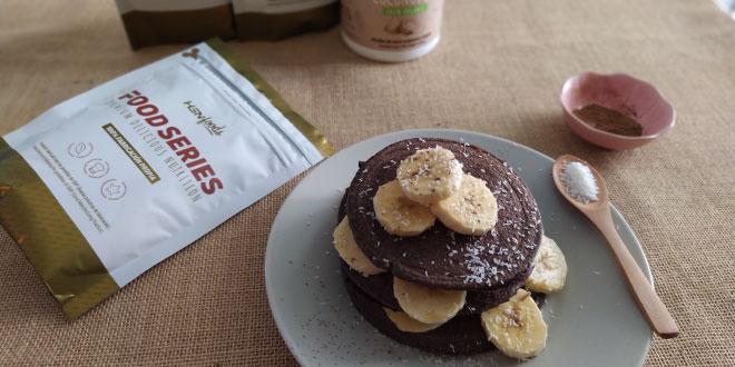 Deliciosas Tortitas de Avena y Claras con Coco y Cacao