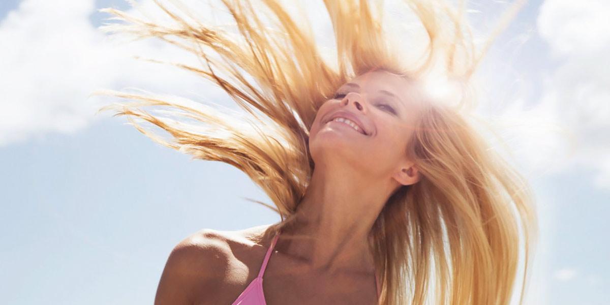 Secar el pelo al aire libre