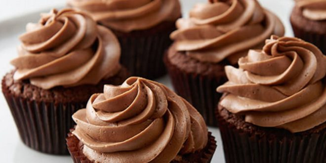 Cupcakes de Chocolate con Glaseado