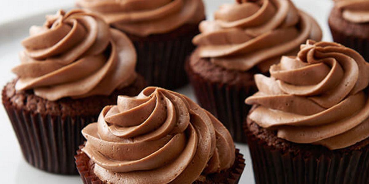 Cupcakes con proteína de chocolate – glaseado