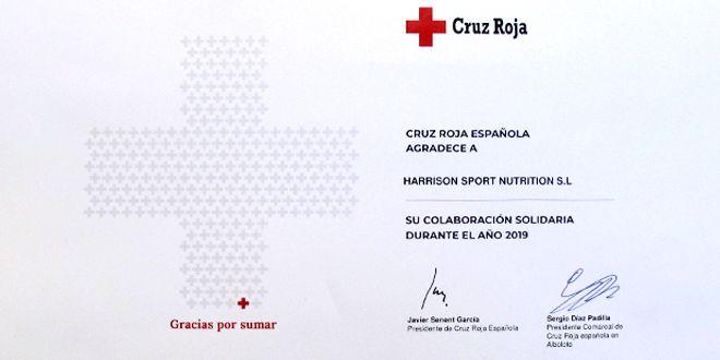 Diploma colaboración Cruz Roja HSN