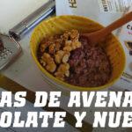 Gachas de Avena con Chocolate y Nueces