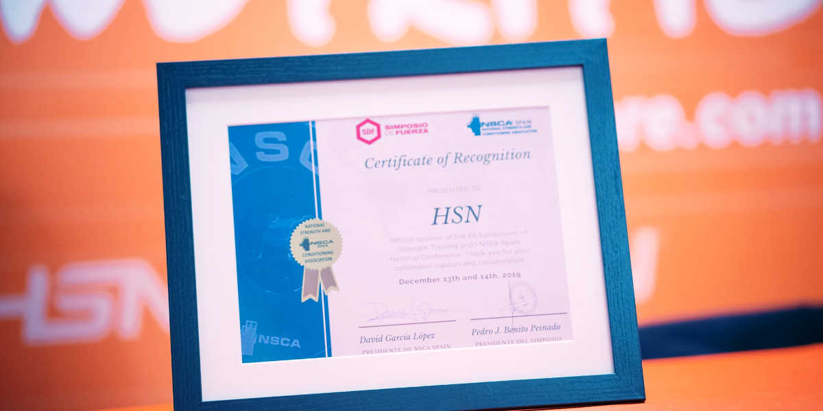 Reconocimiento NSCA Spain a HSN