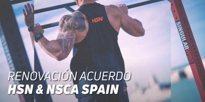 HSN & NSCA Spain, renovamos Acuerdo de Colaboración y Patrocinio
