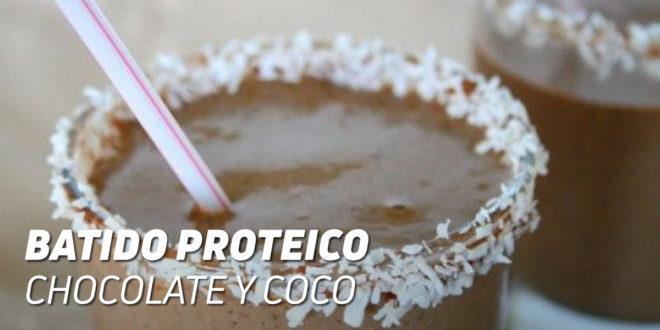 Batido Proteico de Chocolate y Coco