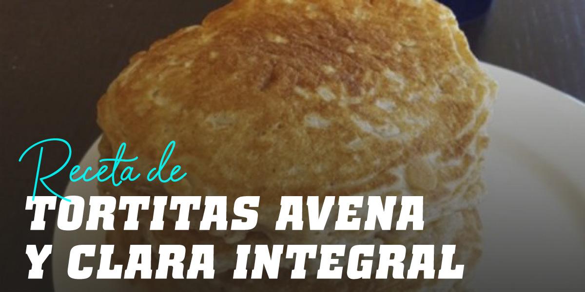 Tortitas de Claras y Copos de Avena Integral