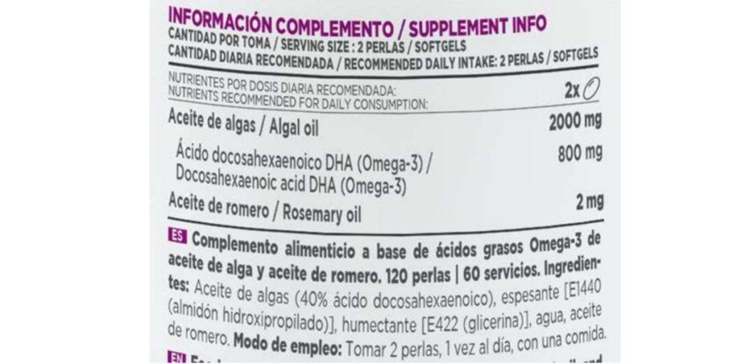 Omega 3 Vegano de HSN