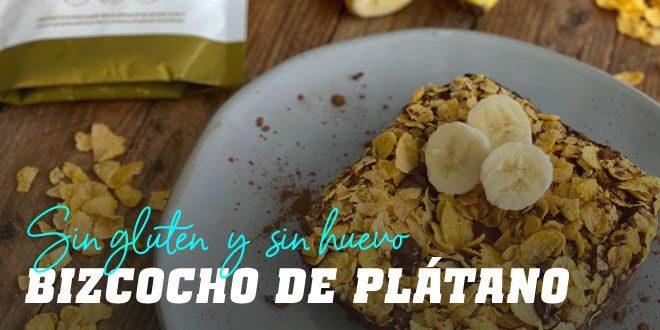 Bizcocho de Plátano Sin Gluten Sin Huevo