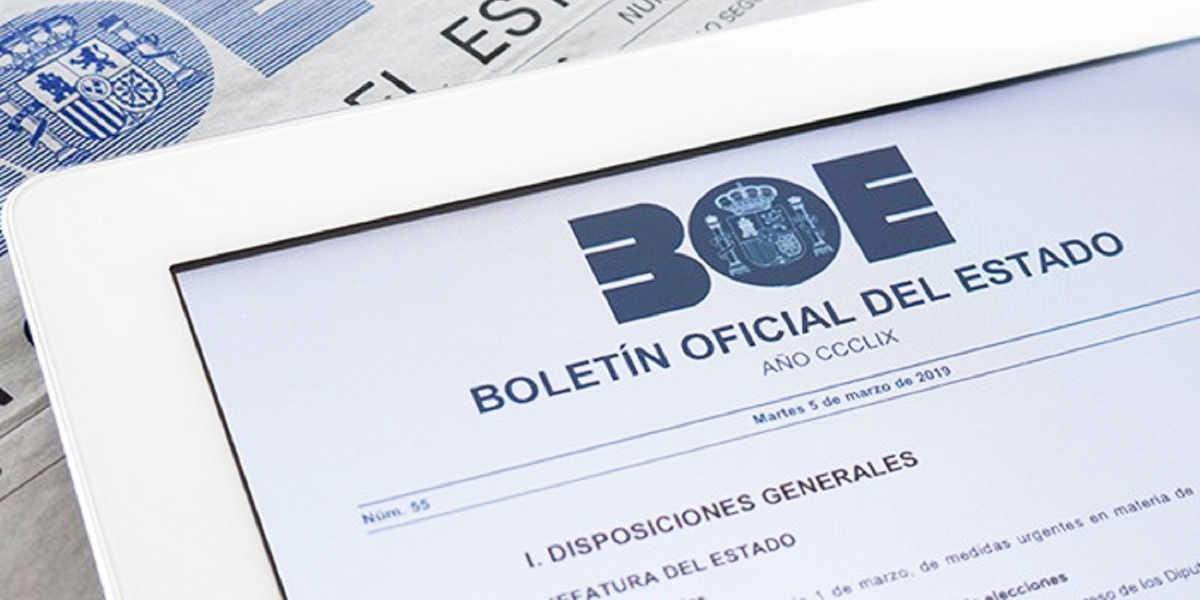 BOE, Boletín Oficial del Estado