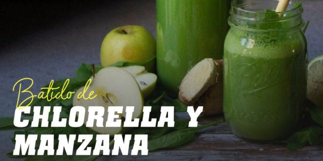 Batido de Chlorella con Manzana Verde