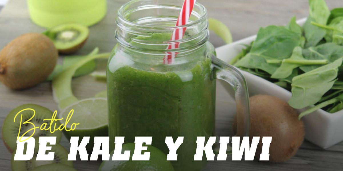 Batido de Kale con Kiwi