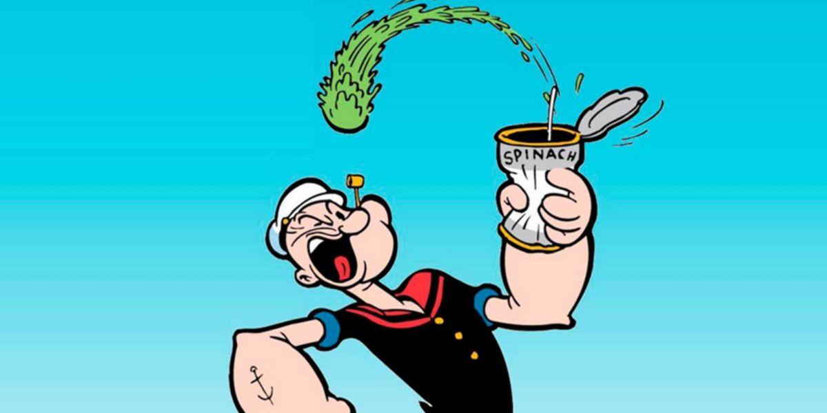 popeye comiendo espinacas