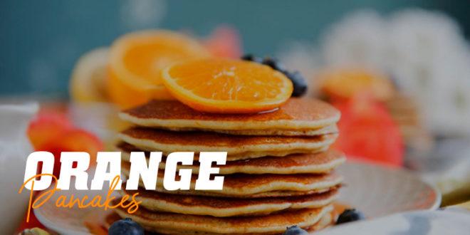 Panquecas de laranja – panquecas de aveia e brancos de laranja!