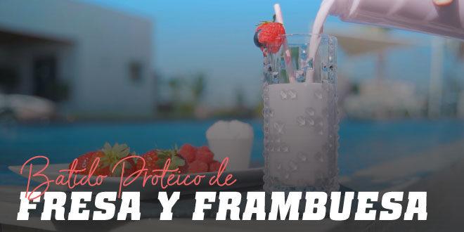 Batido de Fresa y Frambuesa