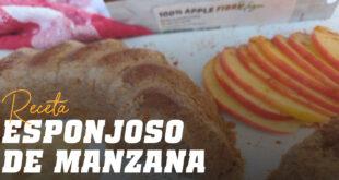 Esponjoso de Manzana y Caramelo