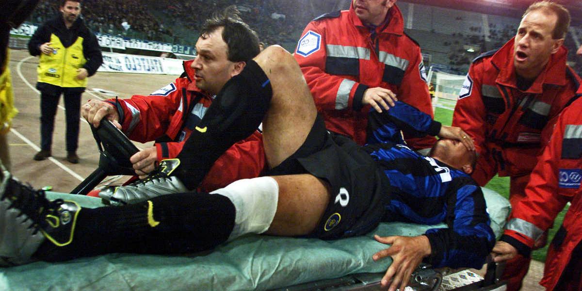 Lesión de rodilla en fútbol
