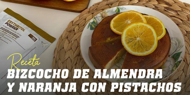 Bizcocho de Almendra y Naranja con Pistachos